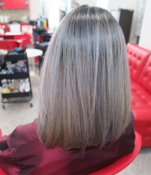 10 вариантов модного серого окрашивания волос - фото №7