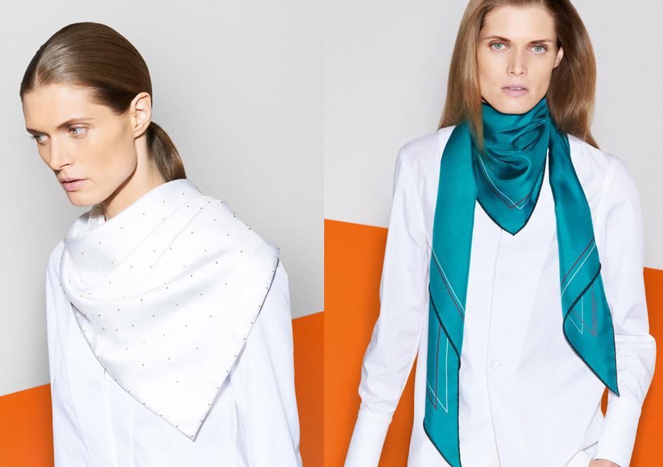 Шелковые платки – как носить? - фото №10