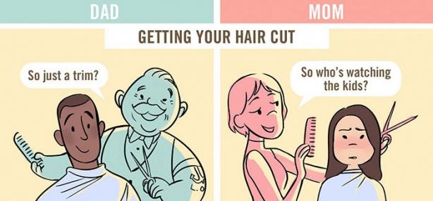 Вы такой милый отец, ну а вы ужасная мать: комиксы продемонстрировали, как по-разному воспринимают родителей разных полов - фото №3