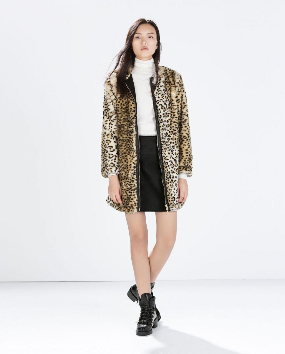 Пальто с леопардовым принтом Céline - фото №3