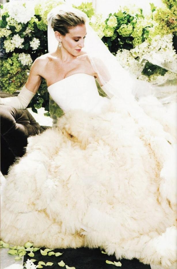10 лучших свадебных платьев Веры Вонг, которые носили звезды