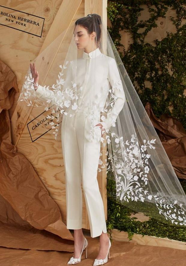 Свадьба в брюках? Коллекция Carolina Herrera Bridal - фото №1