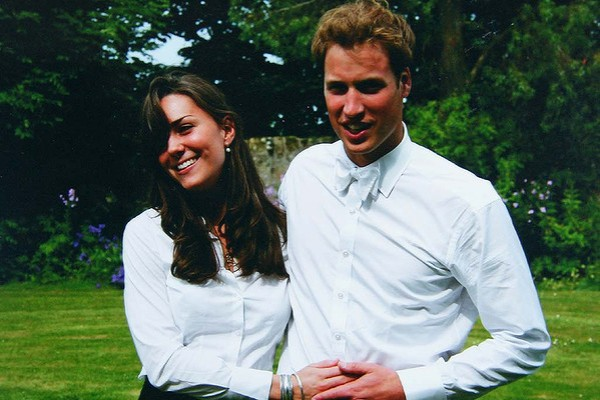 Кейт и Уильям в молодости