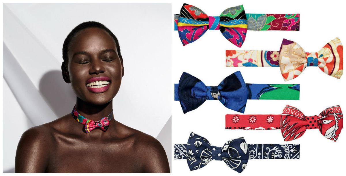 Hermès предлагает женщинам носить галстуки-бабочки - фото №1