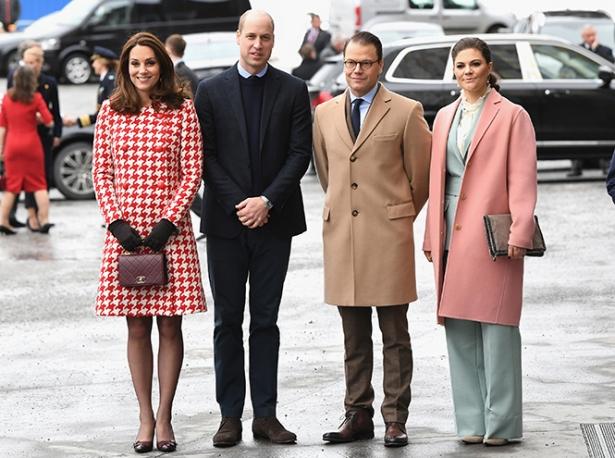 Кейт Миддлтон и принц Уильям в Швеции