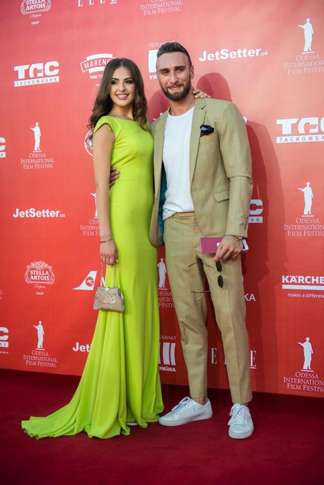Красная дорожка Одесского кинофестиваля Алена и Ираклий Макацария