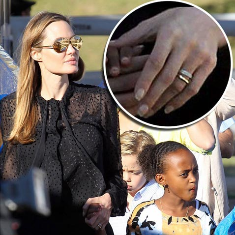 Анджелина Джоли и Брэд Питт тайно поженились - фото №1