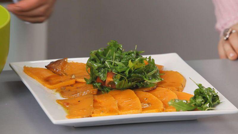 Золотые рецепты звезд: салат из тыквы с помидорами черри и рукколой от певицы Lama - фото №10
