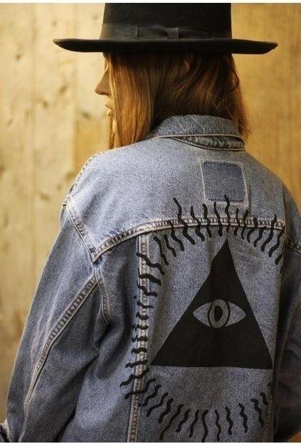 глаз на одежде