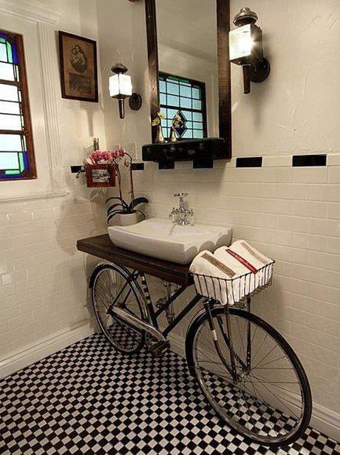 Интересная деталь в интерьере: велосипед - фото №6