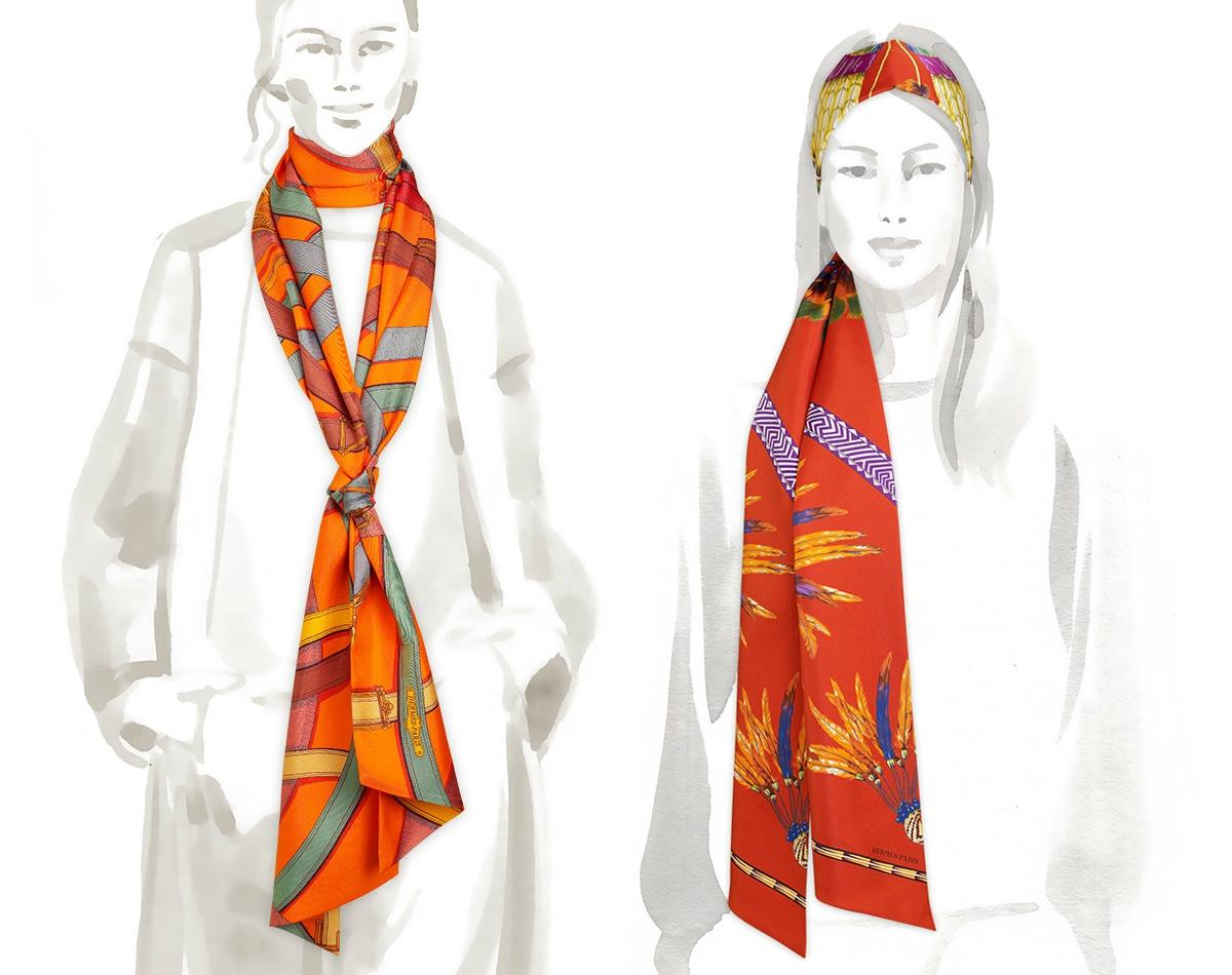 Шелковые платки – как носить? - фото №11