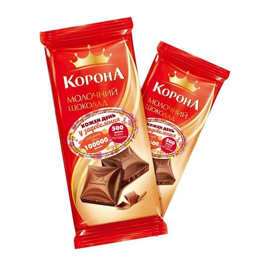Акция от шоколада Корона