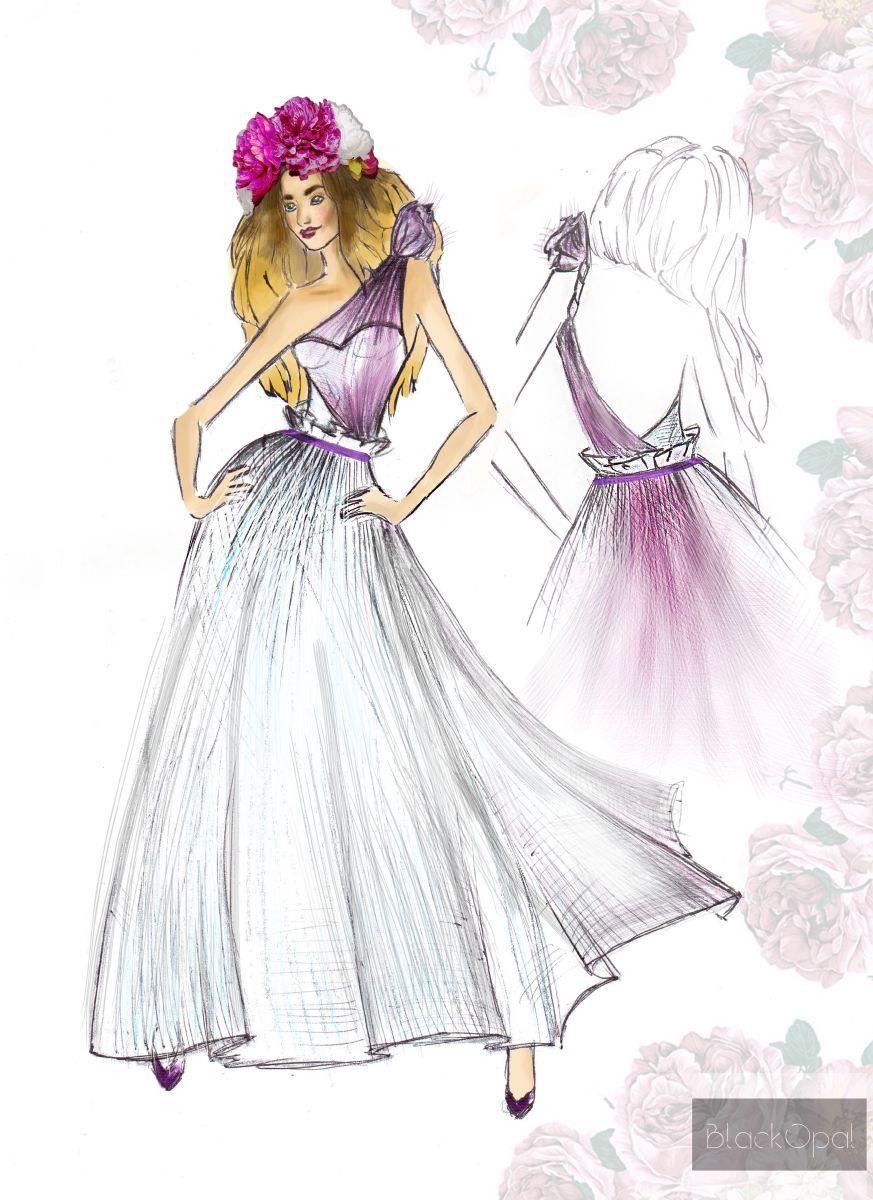 Свадебное платье для Регины Тодоренко. Спецпроект (эскизы+комментарии стилиста) - фото №20