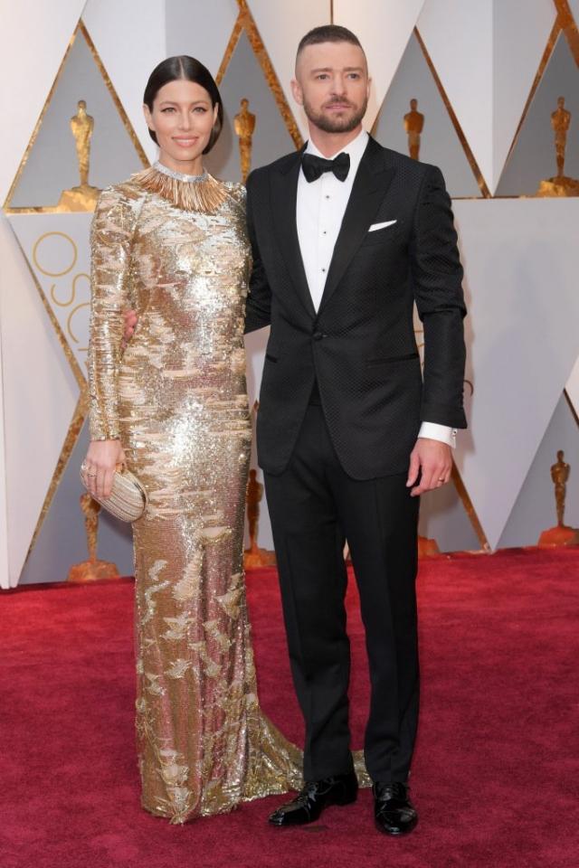 Оскар-2017: Джессика Бил и Джастин Тимберлейк на красной дорожке