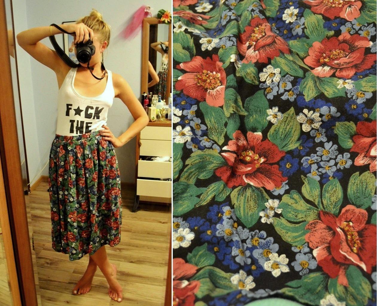 Мастер-класс стилиста: цветочные шорты из бабушкиной юбки - фото №1