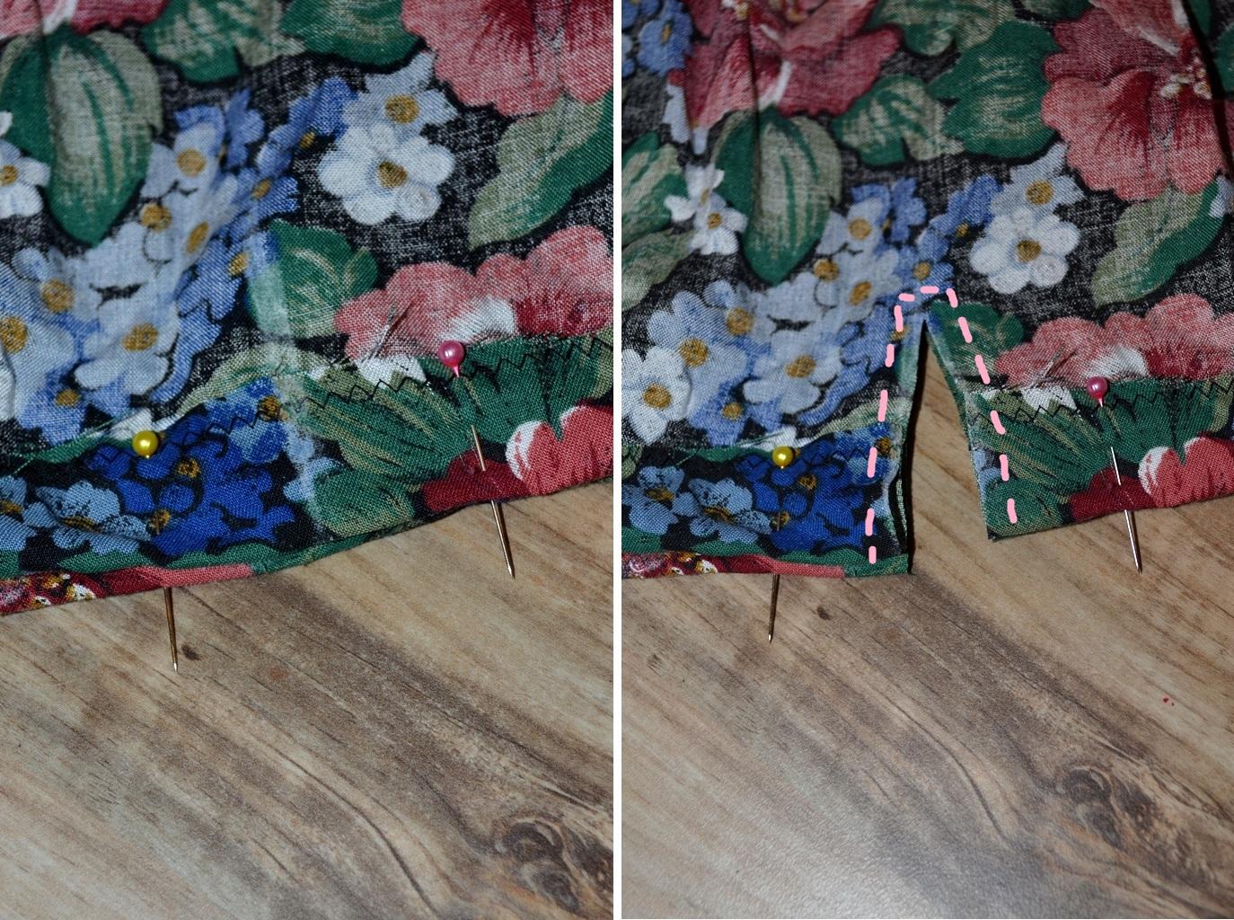 Мастер-класс стилиста: цветочные шорты из бабушкиной юбки - фото №4