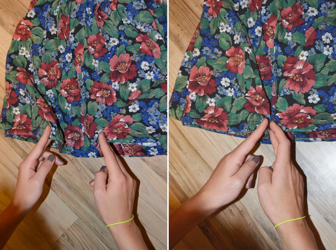 Мастер-класс стилиста: цветочные шорты из бабушкиной юбки - фото №5