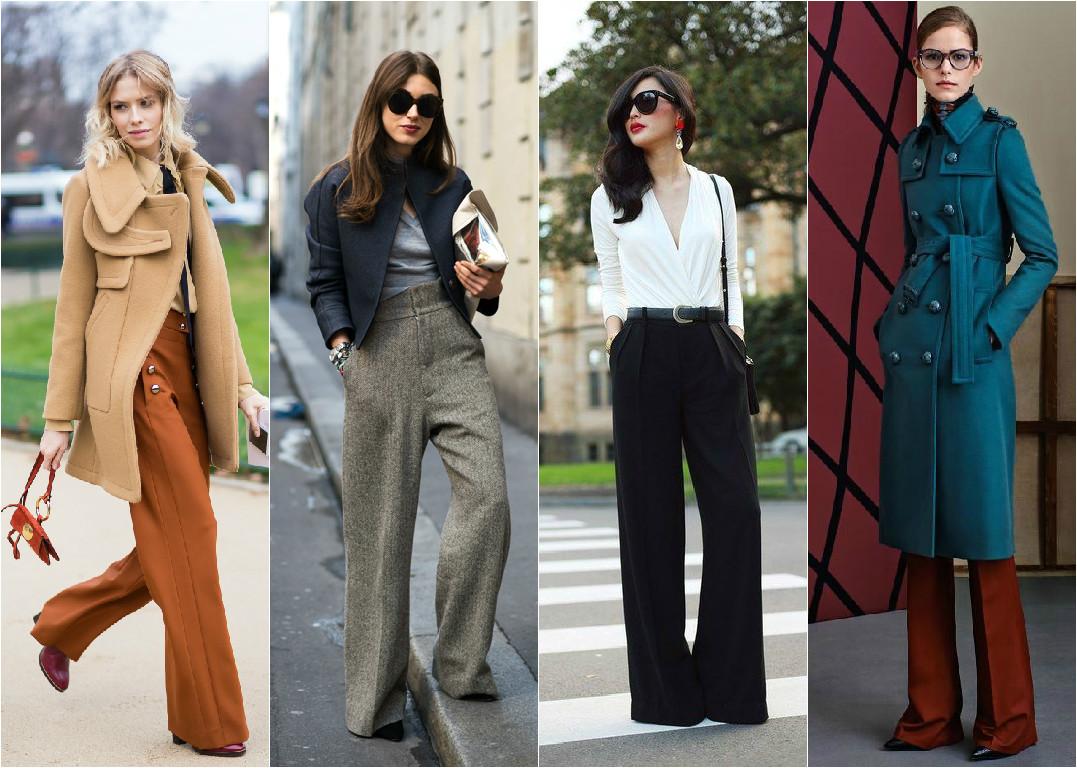 широкие брюки осень 2015