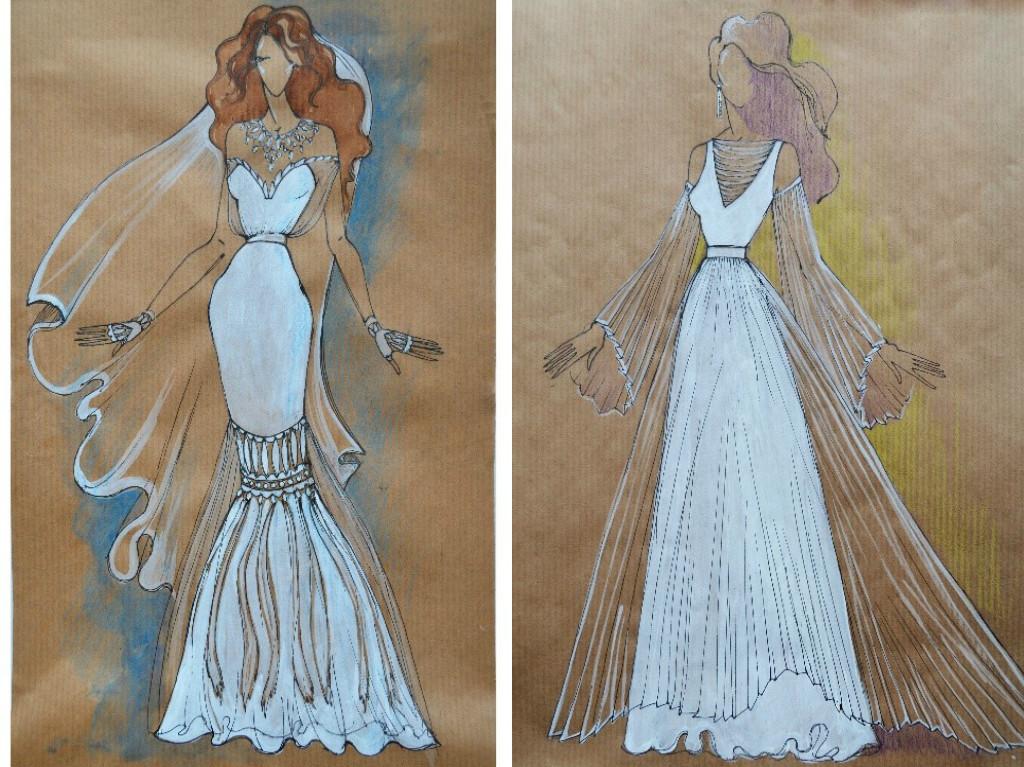 Свадебное платье для Регины Тодоренко. Спецпроект (эскизы+комментарии стилиста) - фото №35