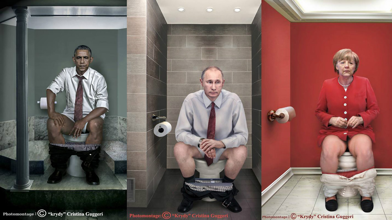 фото политики на унитазе