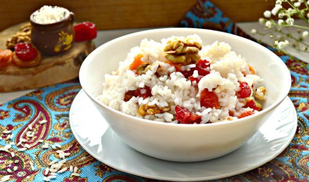 рисовая кутья с вишнями