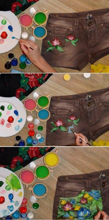 Мастер-класс: делаем шорты с принтами - фото №2