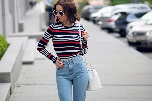 Модные солнцезащитные очки 2016 в белой оправе Соня Карамазова