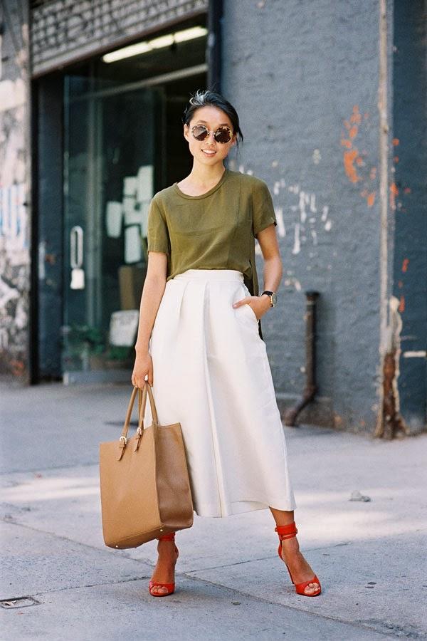 Тренд: модные брюки-кюлоты - фото №23