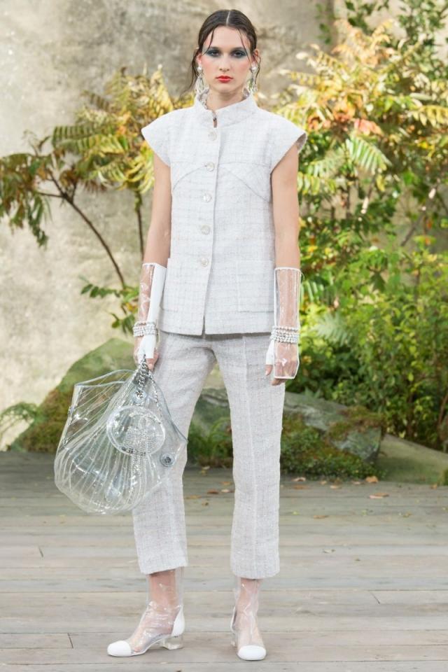 Модный тренд 2018 — пластиковая прозрачная сумка - фото №7