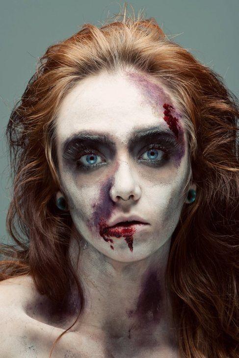 макияж зомби хэллоуин