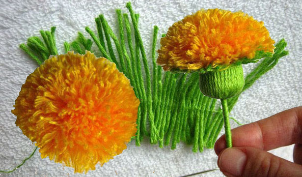 Цветы из ниток своими руками, роз заказать доставкой