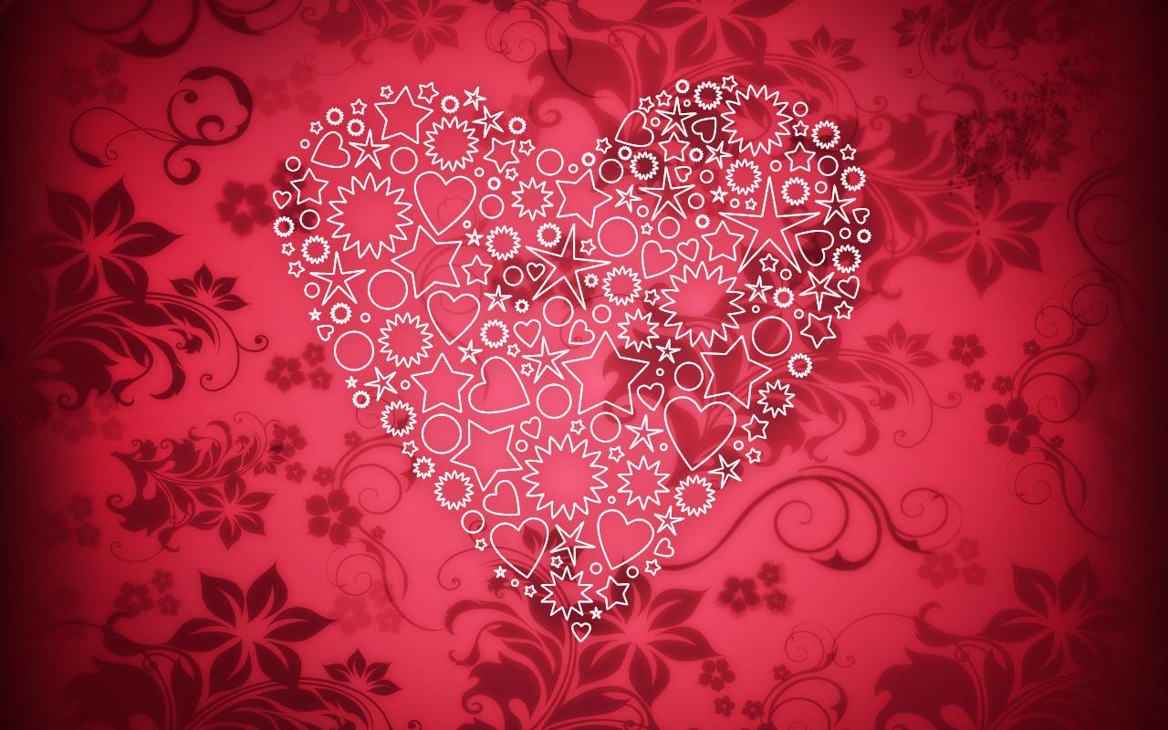 Животные нарисованные, день святого валентина открытки с сердечками