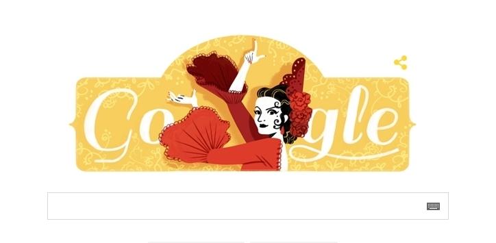 93 года со дня рождения Лолы Флорес: Google посвятил дудл танцовщице фламенко - фото №1