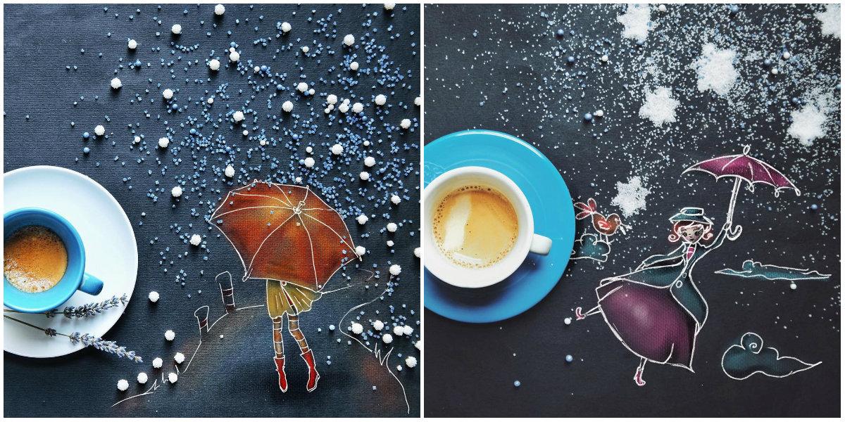 Как можно использовать салфетку, пока пьешь кофе: интересный взгляд художницы - фото №2