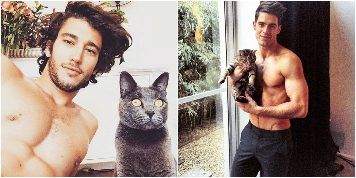 мужчины и коты инстаграм