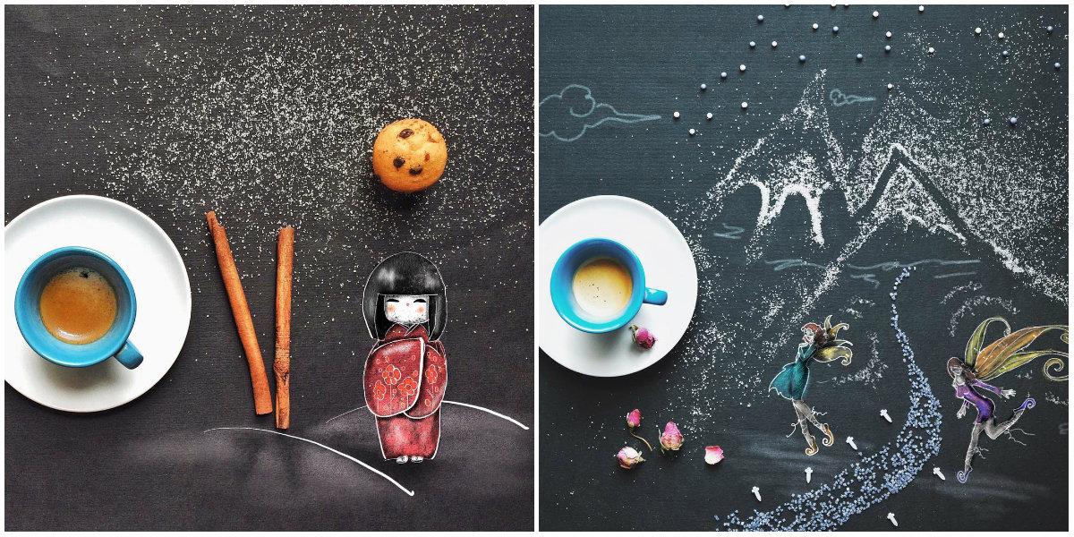 Как можно использовать салфетку, пока пьешь кофе: интересный взгляд художницы - фото №4