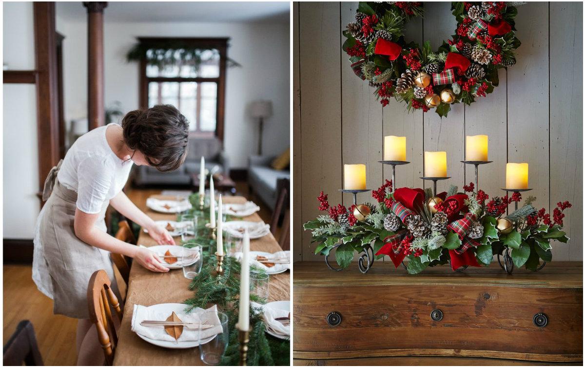 Как украсить стол к Новому году: идеи декора из натуральных материалов - фото №6