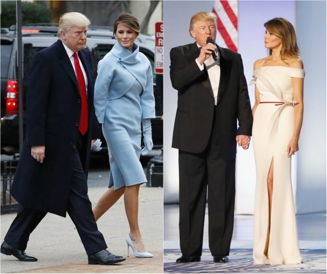 Инаугурация трампа Меланья Трамп наряды фото