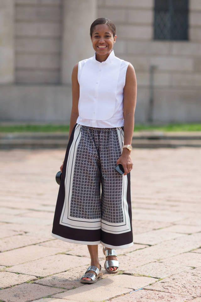 Тренд: модные брюки-кюлоты - фото №21