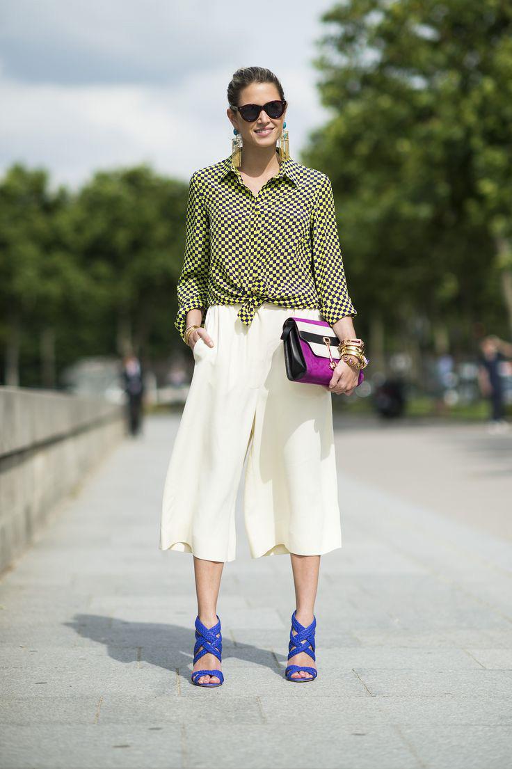 Тренд: модные брюки-кюлоты - фото №22