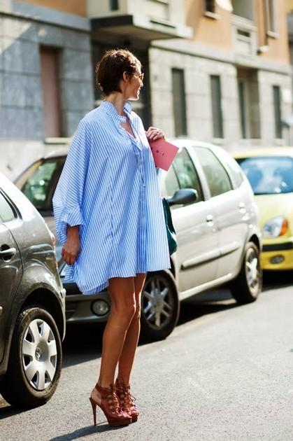 Тренд: платье-рубашка - фото №7