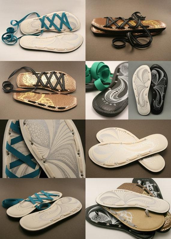 Мастер-класс: сандалии из вьетнамок - фото №2