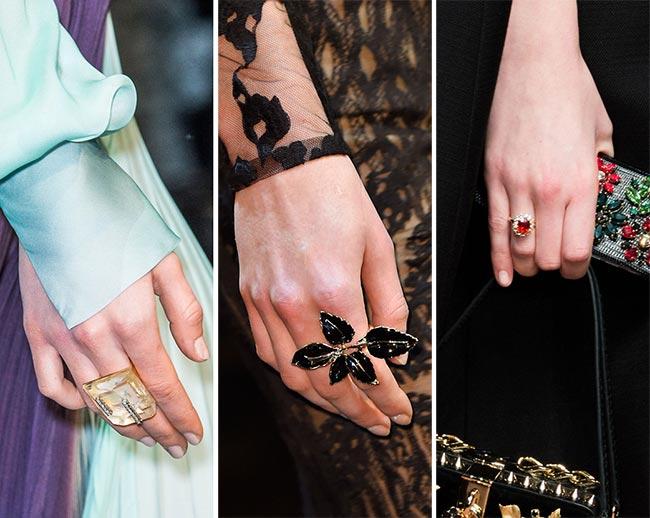 Модные кольца на осень 2015