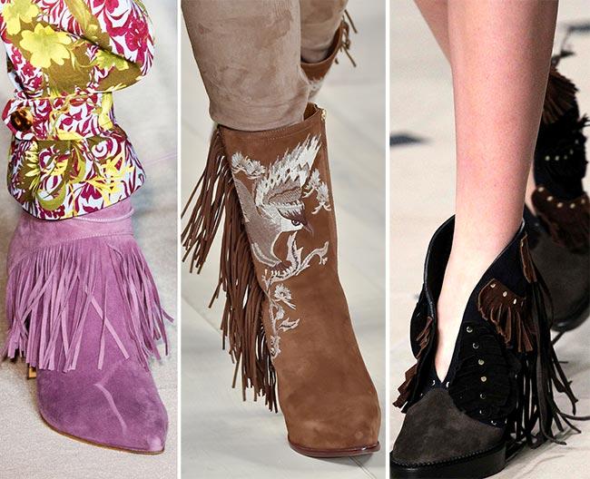 Обувь с бахромой на зиму 2015-2016
