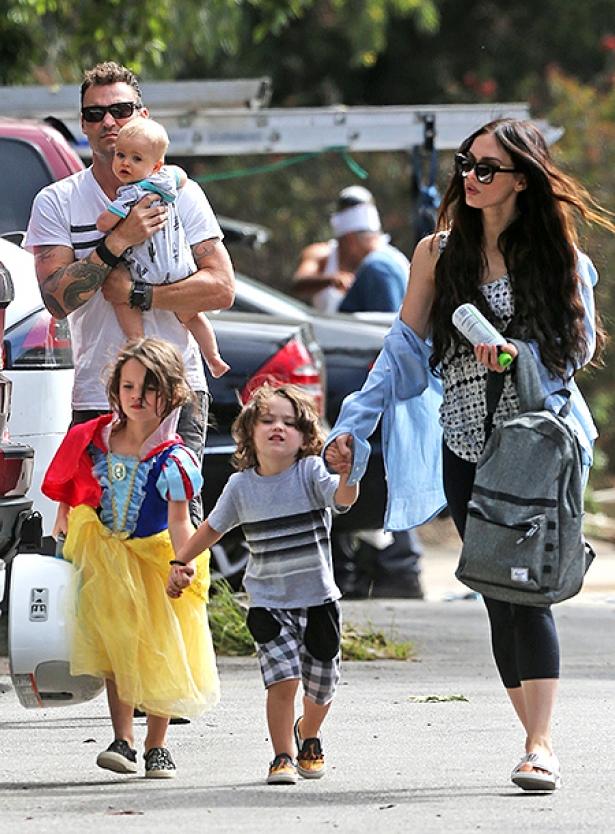 Меган Фокс и дети