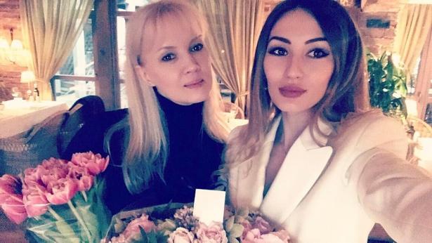 Елена Стебнева с дочерью Мшель