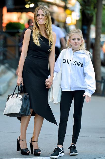Хайди Клум показала свою модницу-дочь на прогулке в Нью-Йорке (ФОТО) - фото №1