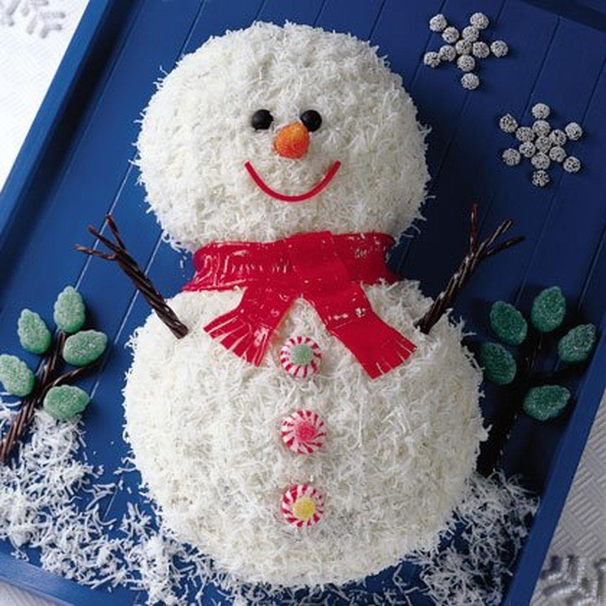 "Как приготовить торт ""Снеговик""? - фото №1"