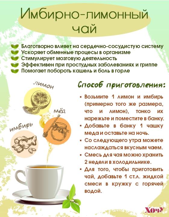 имбирный чай рецепт
