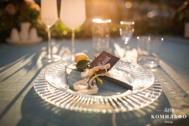 свадьба оформление стола фото